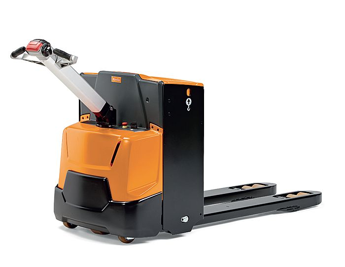 Essential warehousing inventory includes a loader and an electro pallet jack  rocla