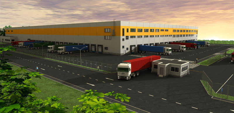 Sever (North) big logistics park project has started in Novosibirsk logistics park