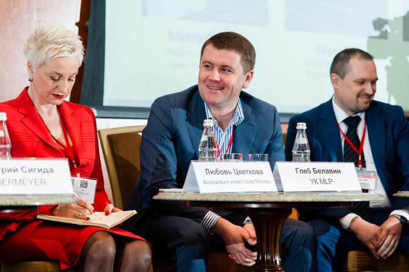 Валерия Мозганова и Глеб Белавин на конференции «Девелопмент малых складов: разделяй и властвуй»